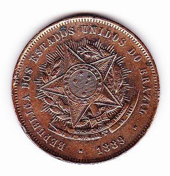 moneda de 20 reales brasil 1889