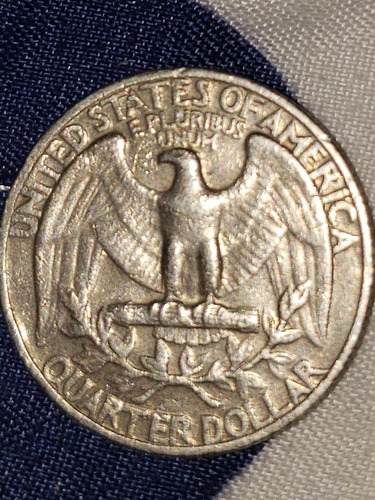 moneda de 25 centavos americana de 1970