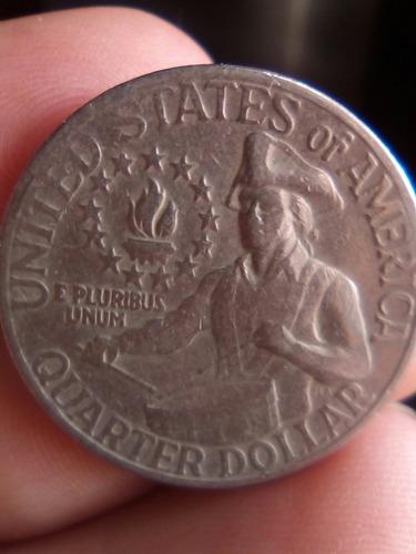 moneda de 25 centavos de dolar