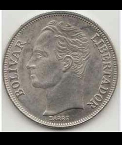moneda de 5 bolivares de 1990