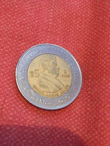 moneda de 5 pesos conmemorativa miguel ramos arizpe