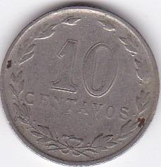 moneda de argentina! 10 cent 1933 - dificil