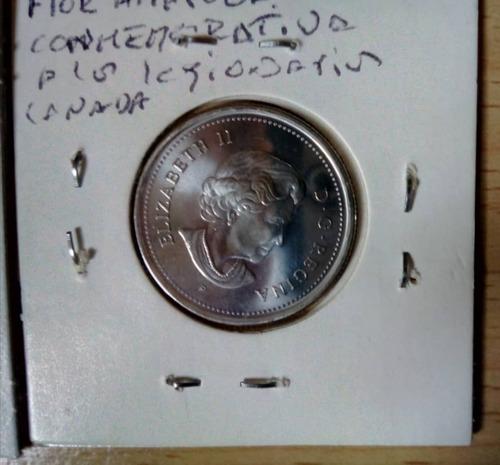 moneda de canada, 25 cents, 2008. fin primera guerra. unc