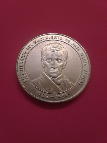 moneda de colección bicentenario josé maria vargas