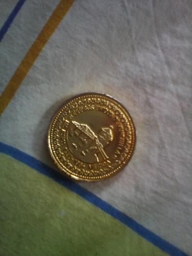 moneda de coleccion cinco morocotas de los aleros de meridad