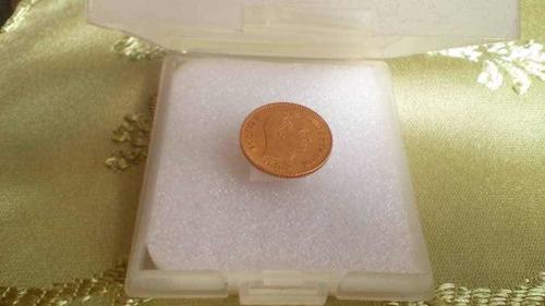 moneda de colección de oro año 1875