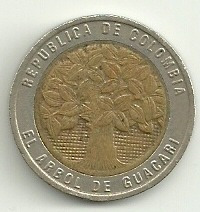 moneda de colombia! 500 pesos 1994