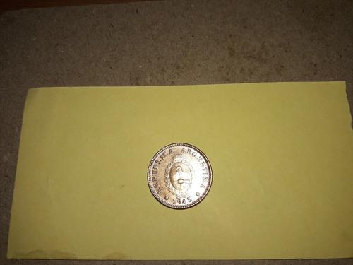 moneda de dos centavos argentina 1945