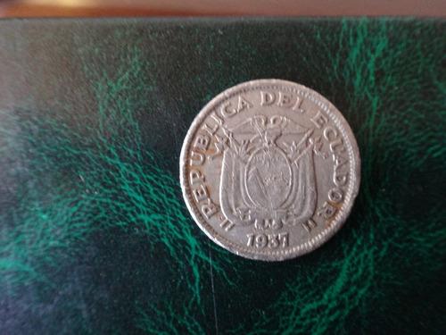 moneda de ecuador 1 sucre 1937 usada