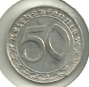 moneda de germany,third reich! 50 reichspfennig 1938 a