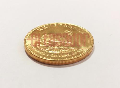 moneda de oro 22 kts sudafricana krugerrand joyeriaeltasador