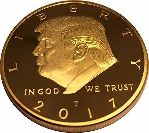 moneda de oro donald trump 2017, moneda coleccionable chapad