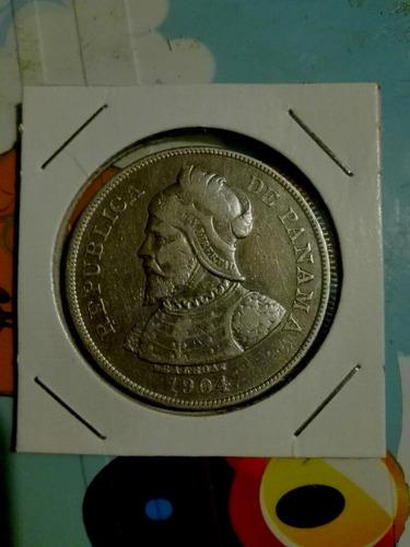 moneda de panamá, año 1904.