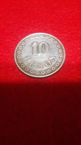 moneda de paraguay - 10 pesos - 1939