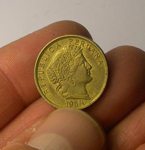 moneda de perú, 1964.
