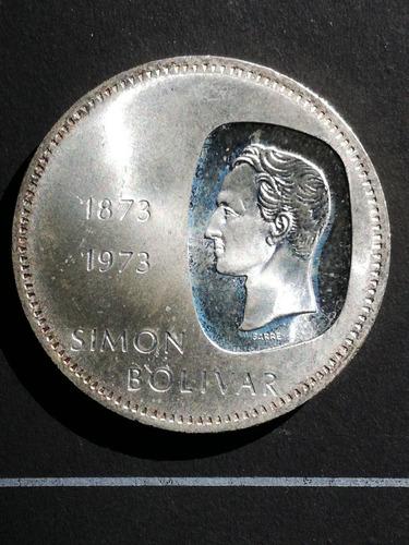 moneda de plata 10 bolivares 1973  doblon centenario