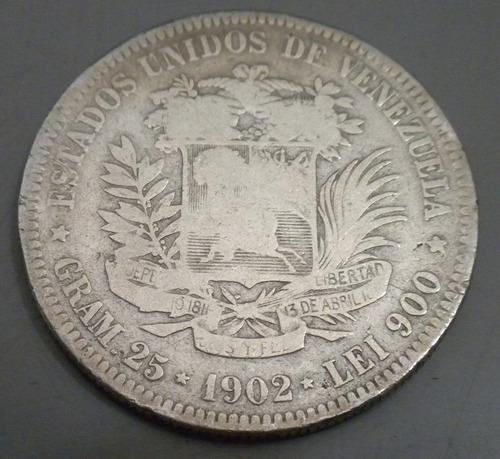 moneda de plata. 1902. lei 900 25 gr