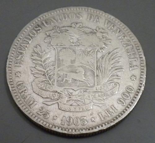 moneda de plata. 1903. lei 900 25 gr