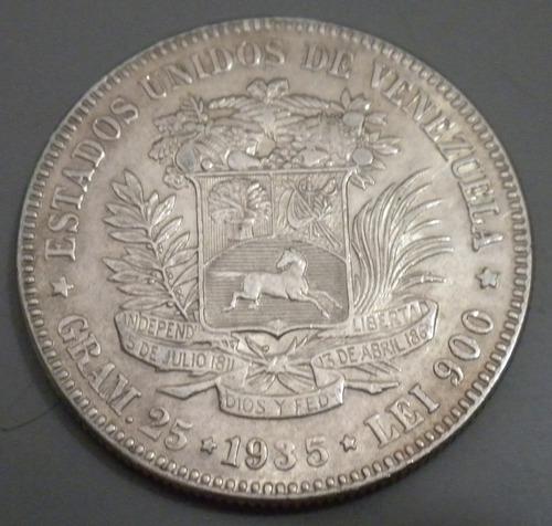 moneda de plata. 1935. lei 900 25 gr