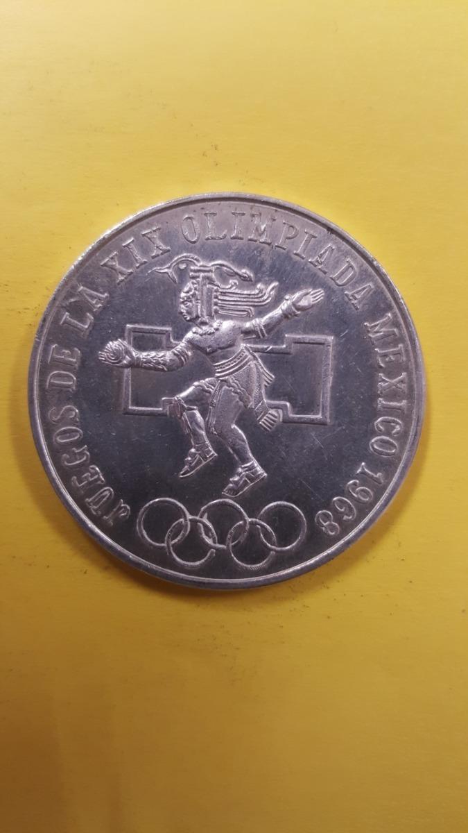 Moneda De Plata 25 Pesos Juegos Olimpicos 1968 250 00 En Mercado