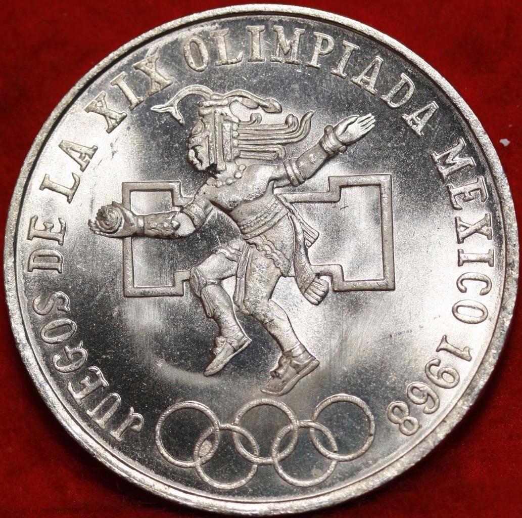 Moneda De Plata 25 Pesos Mexico Juegos Olimpicos 1968 70 000