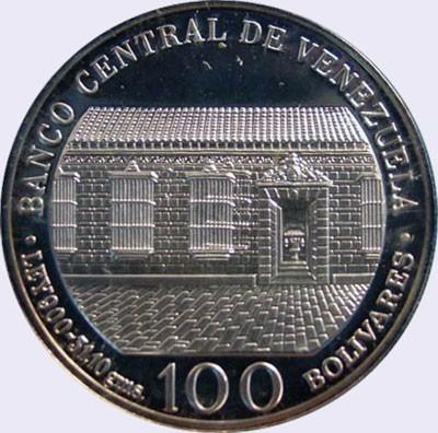 moneda de plata 31gr. bicentenario libertador simon bolivar
