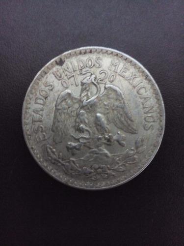 moneda de plata 50 centavos 1944 ley 0.720