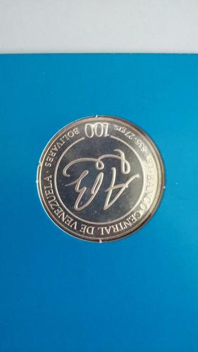 moneda de plata andres bello 100bs