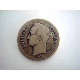 Moneda De Plata Año Fuerte 1935 Estados Unidos De Venezuela