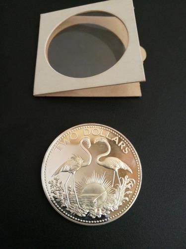 moneda de plata bahama islands 1966 incluye elizabeth ii