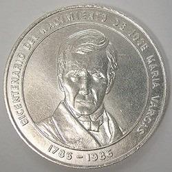 moneda de plata bicentenario dr. jose maria vargas
