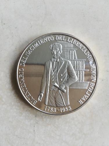 moneda de plata bicentenario nacimiento simón bolívar