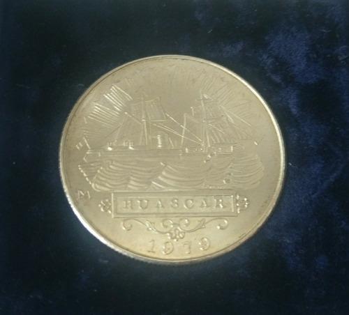 moneda de plata conmemorativa del monitor huascar 1979