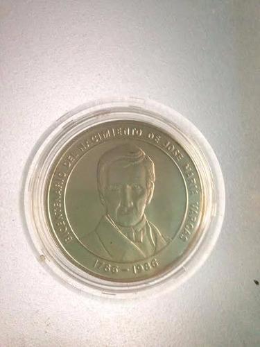 moneda de plata conmemorativa jose maria vargas