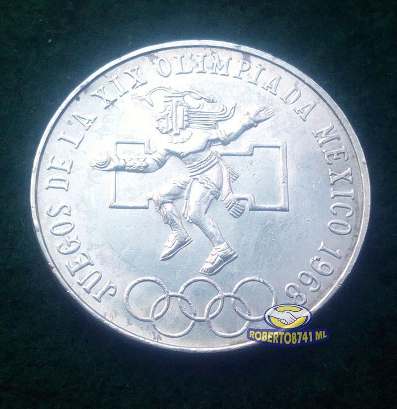 Moneda De Plata Conmemorativa Juegos Olimpicos Mexico 1968