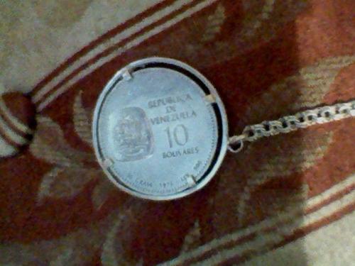 moneda de plata de 10 bolívares en excelentes condiciones