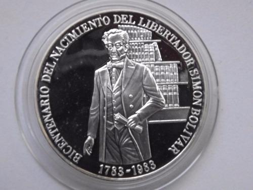 moneda de plata del libertador simón bolívar (1783-1983)