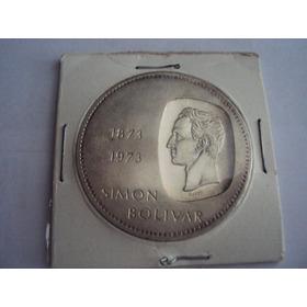 Moneda De Plata Doblon De 10 Bolivares.