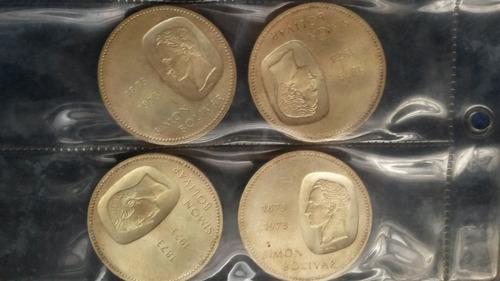 moneda de plata doblón simon bolivar 1873-1973