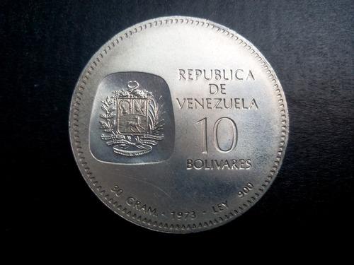 moneda de plata doblon simón bolívar 1873-1973