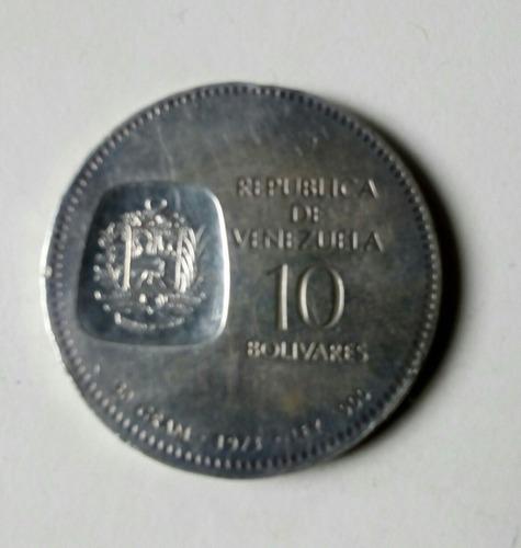 moneda de plata doblon simon bolivar 1973