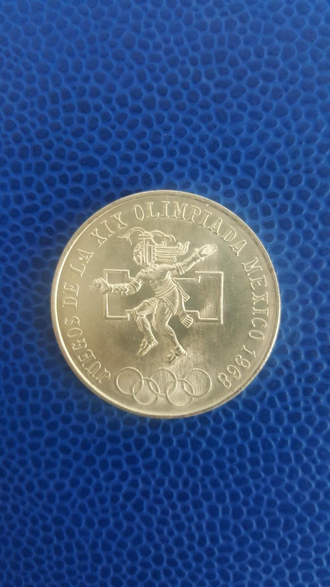 Moneda De Plata Ley 0 720 25 Pesos Juegos Olimpicos 1968