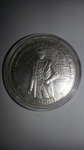 moneda de plata ley 900 bicentenario natalicio libertador