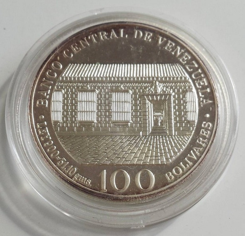moneda de plata natalicio libertador simón b. 1783 - 1983