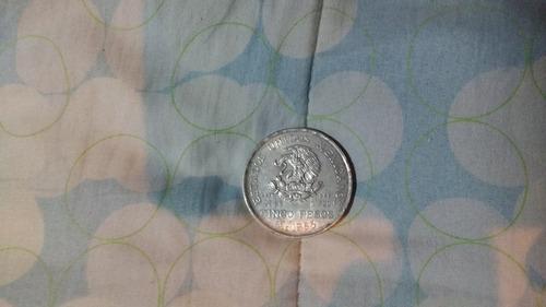 moneda de plata pura ley .720 año de hidalgo de 1953