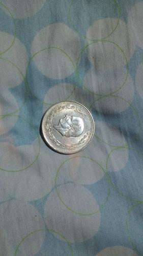 moneda de plata pura ley .720 hidalgo grande