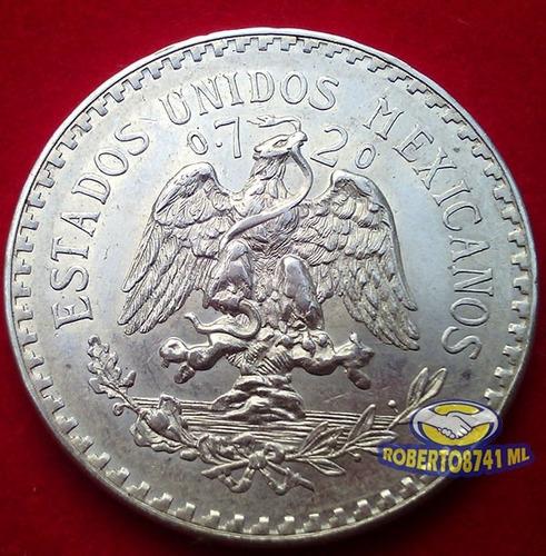 moneda de plata un peso resplandor año 1944