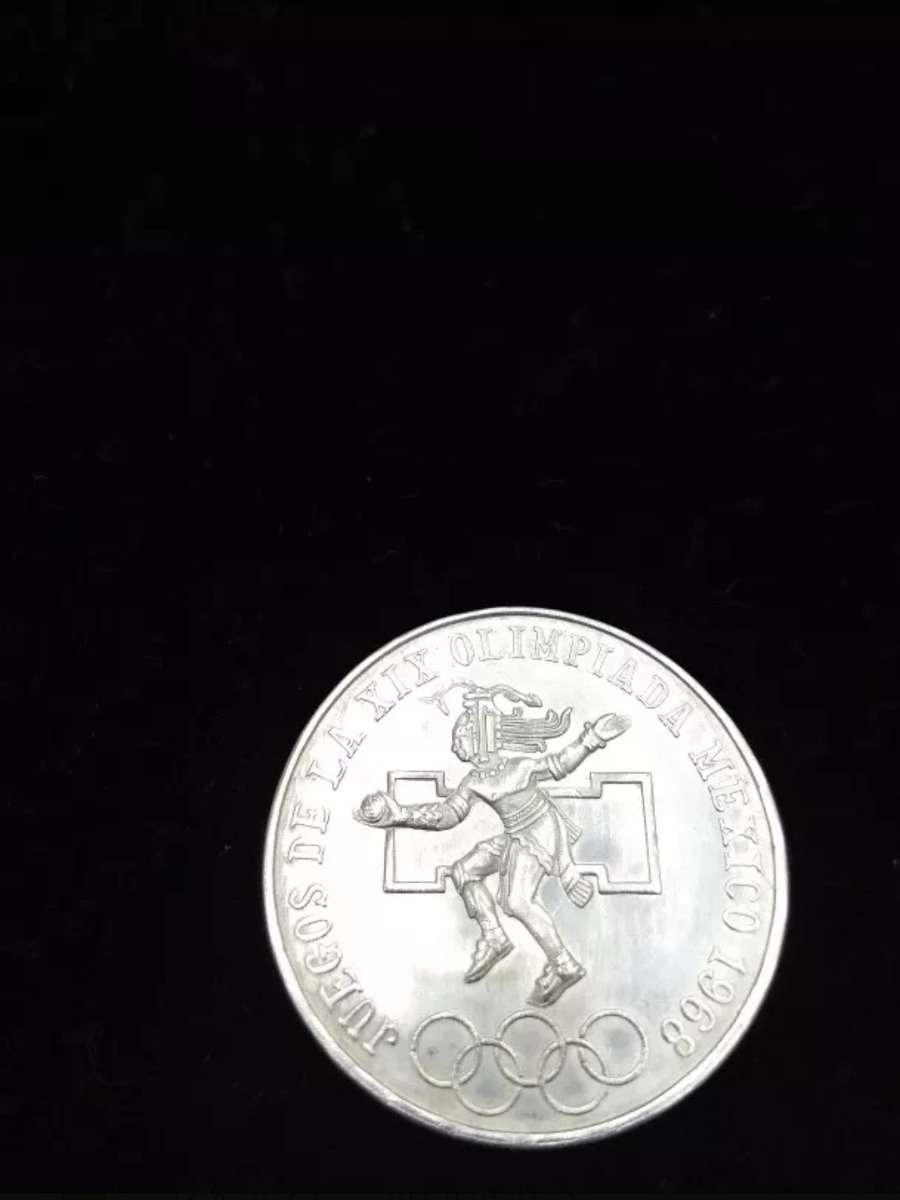 Moneda De Plata Veinticinco Pesos Juegos Olimpicos 1968 259 00