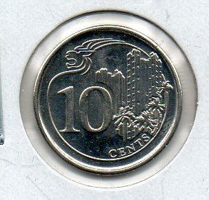moneda de singapur # 3521 apo