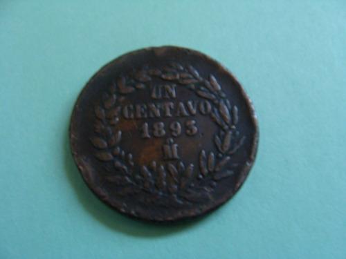 moneda de un centavo, año 1893,
